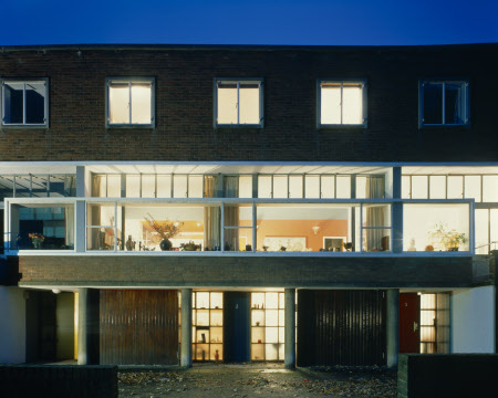 View of the exterior of 2 Willow Road at night